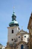 PRAAG, TSJECHISCHE REPUBLIC/EUROPE - 24 SEPTEMBER: Kerk van St Schaafwond royalty-vrije stock fotografie