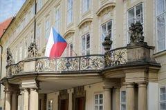 PRAAG, TSJECHISCHE REPUBLIC/EUROPE - 24 SEPTEMBER: Nieuw Royal Palace Royalty-vrije Stock Foto
