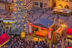 """PRAAG, TSJECHISCHE REPUBLIEK †""""12 December, 2011 Kerstmismarkten van Praag Royalty-vrije Stock Afbeeldingen"""