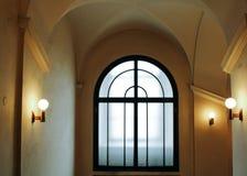 Praag, Tsjechische Republiek - 04 02 2013: Architectuur, gebouwen en oriëntatiepunt binnenland van het oude stadhuis stock foto