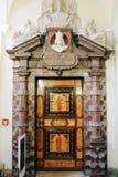 Praag, Tsjechische Republiek - 04 02 2013: Architectuur, gebouwen en oriëntatiepunt binnenland van het oude stadhuis royalty-vrije stock foto