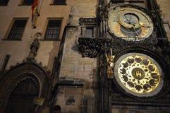 Praag, Tsjechische Republiek De astronomische klok van Praag of orloj stock afbeelding