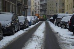 Praag, Tsjechische Republiek - 10 de Gebruikelijke dag van Januari 2017 in de stad Stock Afbeeldingen