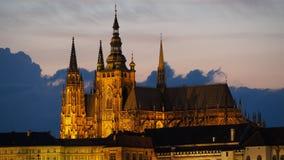 Praag, Tsjechische Republiek De Metropolitaanse Kathedraal van Heiligen Vitus stock foto