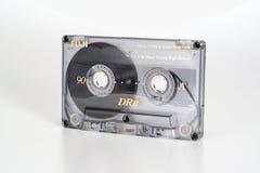 PRAAG, TSJECHISCHE REPUBLIEK - 20 FEBRUARI, 2019: Audio compact chroom 90 van cassettefuji DRII mening van recht Audiocassette op royalty-vrije stock afbeeldingen