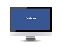 PRAAG, TSJECHISCHE REPUBLIEK - 16 Februari, 2015: Facebook is de online sociale die voorzien van een netwerkdienst in Februari 20 Stock Fotografie