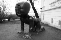Praag, Tsjechische Republiek - 27 Januari, 2014: ` Babys ` door beeldhouwer David ÄŒernà ½ Stock Foto