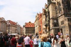 Klok in Praag Stock Afbeeldingen