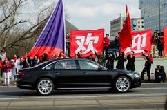 Praag, Tsjechische republiek - Maart, 28ste 2016: Chinese Voorzitter Xi Royalty-vrije Stock Foto's