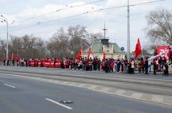 Praag, Tsjechische republiek - Maart, 28ste 2016: Chinese Voorzitter Xi Stock Afbeeldingen