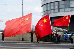 Praag, Tsjechische republiek - Maart, 28ste 2016: Chinese Voorzitter Xi Stock Foto's
