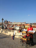 Praag, Tsjechische Republiek - 13 NOVEMBER, 2012: Mening van Charles B Royalty-vrije Stock Afbeeldingen