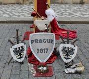 Praag; Tsjechische Republiek; 18 oktober, 2017: Materiaal van ridder st royalty-vrije stock afbeelding