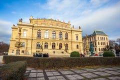 24 01 2018 Praag, Tsjechische Republiek - Rudolfinum die op Januari P voortbouwen Royalty-vrije Stock Foto's