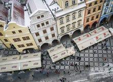 Praag, Tsjechische Repulic, 15 01 2013: de mening over de huizen en Stock Foto's