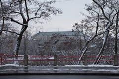 Praag in Wintertijd Stock Fotografie