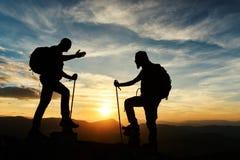 Praatje en gesprekken bij de top stock fotografie