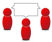 Praatje of gesprek Royalty-vrije Stock Foto's