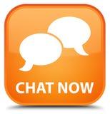 Praatje nu speciale oranje vierkante knoop Royalty-vrije Stock Afbeelding