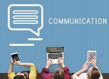 Praatje van het Communicatie het Online Concept Blogaandeel Royalty-vrije Stock Fotografie