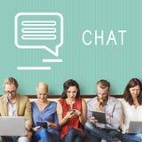 Praatje van het Communicatie het Online Concept Blogaandeel Stock Afbeeldingen