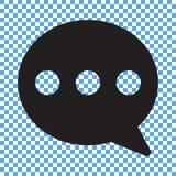 Praatjepictogram, sms pictogram, commentaarpictogram vector illustratie