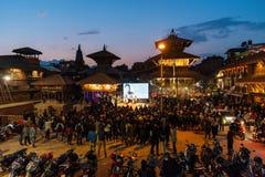 Prabal Gurung intervju på den fotoKatmandu festivalen 2018, i passande royaltyfri foto