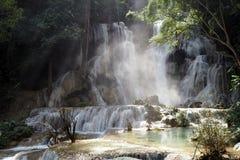 Prabang luang водопадов Tat Kuang Si Стоковое Изображение