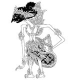 Prabu Citragada. A character of traditional puppet show, wayang kulit from java indonesia vector illustration