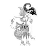 Prabu Citrarata. A character of traditional puppet show, wayang kulit from java indonesia vector illustration