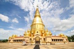 Prabudhabaht Huay Toom tempel, Lamphun Thailand Arkivfoton