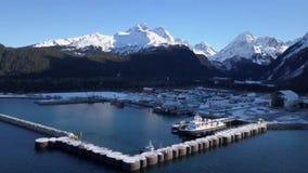 Prac łodzie w Alaskiej wodzie zdjęcie wideo