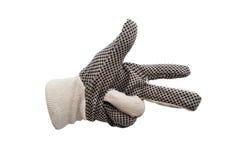 Prac rękawiczki odizolowywać Obraz Royalty Free