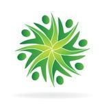 Prac zespołowych zieleni swooshes ilustracja wektor