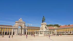 Praca做Comercio或商务正方形,里斯本,葡萄牙 免版税库存图片