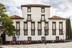 Praca做Municipio,丰沙尔,马德拉岛 库存图片
