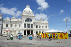 Praca市政萨尔瓦多巴伊亚巴西 免版税库存照片