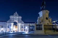 Praca делает Comercio (квадрат коммерции) в Лиссабоне Стоковое Фото