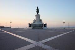 Praca делает Comercio на зоре в Лиссабоне Стоковое Изображение
