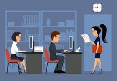 praca biurowa kobieciarz kawowa biznesowej megafonu zespołu Zdjęcie Stock