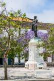 Praca da Republic in Aveiro, Beira Litoral. Portugal. Aveiro, Jose Estevao Magalhaes statue in Praca da Republica of Aveiro, Portugal Stock Image