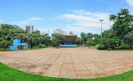 Praca da Republica fyrkant på centret av staden arkivfoto