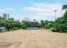 Praca da Republica fyrkant på centret av staden royaltyfria bilder