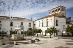 Praca da Republica square in Monforte town, District of Portalegre, Portugal Stock Photography