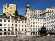 Praca de Sao Paulo em Lisboa em Portugal fotos de stock royalty free