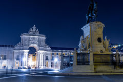 The Praca do Comercio (Commerce Square) in Lisbon. The Praca do Comercio (English: Commerce Square) is located in the city of Lisbon, Portugal. it is still Stock Photo