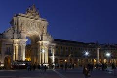 Praca do Comercio Commerce Square by night Royalty Free Stock Photos