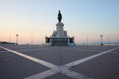 Praca do Comercio at Dawn in Lisbon Stock Image
