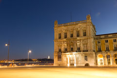 The Praca do Comercio (English: Commerce Square)  in Lisbon Royalty Free Stock Photo