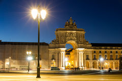 The Praca do Comercio (English: Commerce Square) is located in t Royalty Free Stock Images